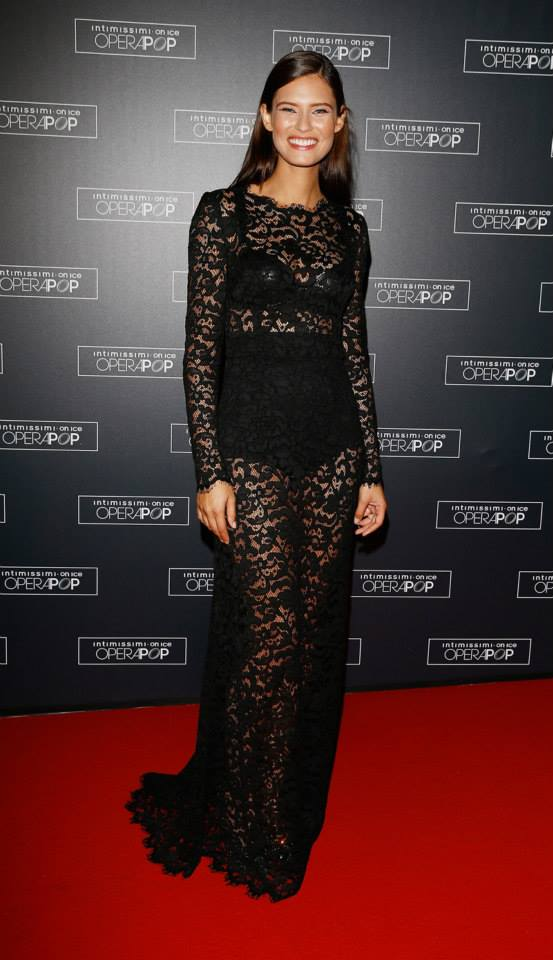 Bianca Balti wearing Dolce&Gabbana to Intimissimi on Ice - OperaPop at the Arena di Verona on September 20, 2014..jpg